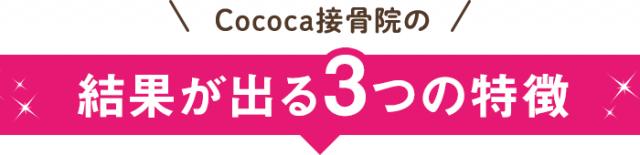 Cococa接骨院の結果が出る3つの特徴