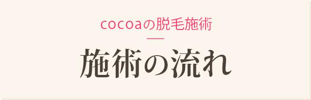 Cocoaの脱毛 施術の流れ