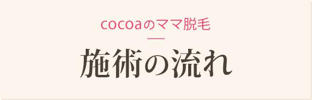 Cocoaのママ脱毛 施術の流れ